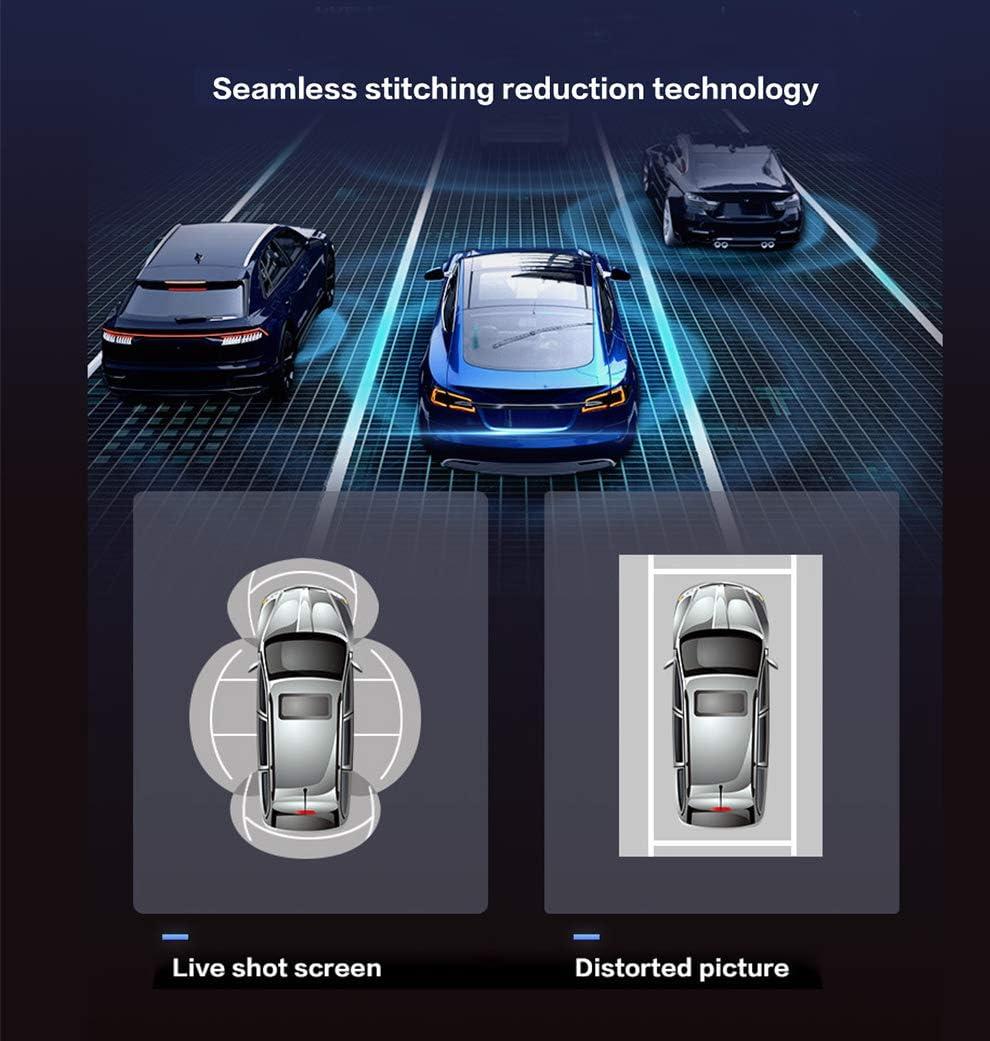grabaci/ón de c/ámara de coche MiCarBa C/ámara panor/ámica universal de 360 grados sistema de aparcamiento con sensor G HD 1080P impermeable marco de perspectiva de p/ájaros