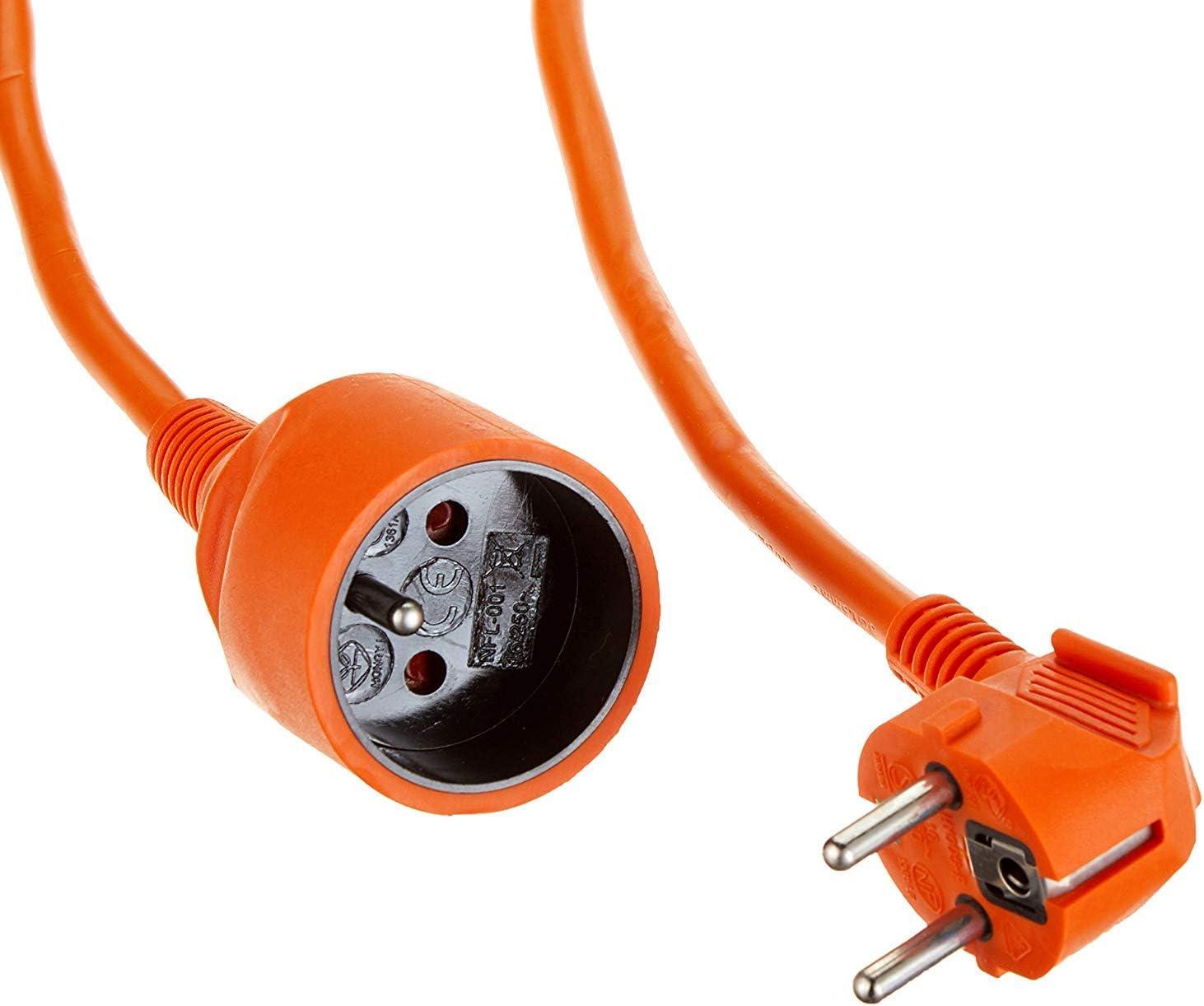 Premiumcord Verlängerungskabel 230v 20m Mit Kindersicherung Stromkabel Netzkabel Schuko Verlängerung Buchse Auf Stecker Typ F Farbe