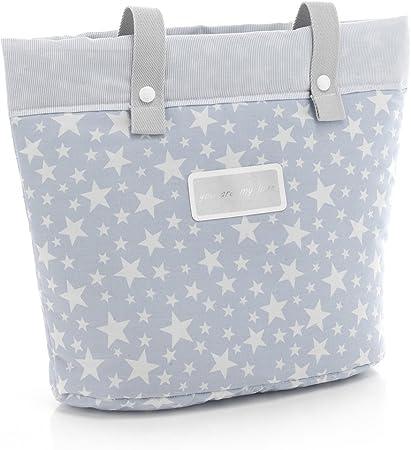 Oferta amazon: Cambrass Star - Bolso panadera, color azul celeste