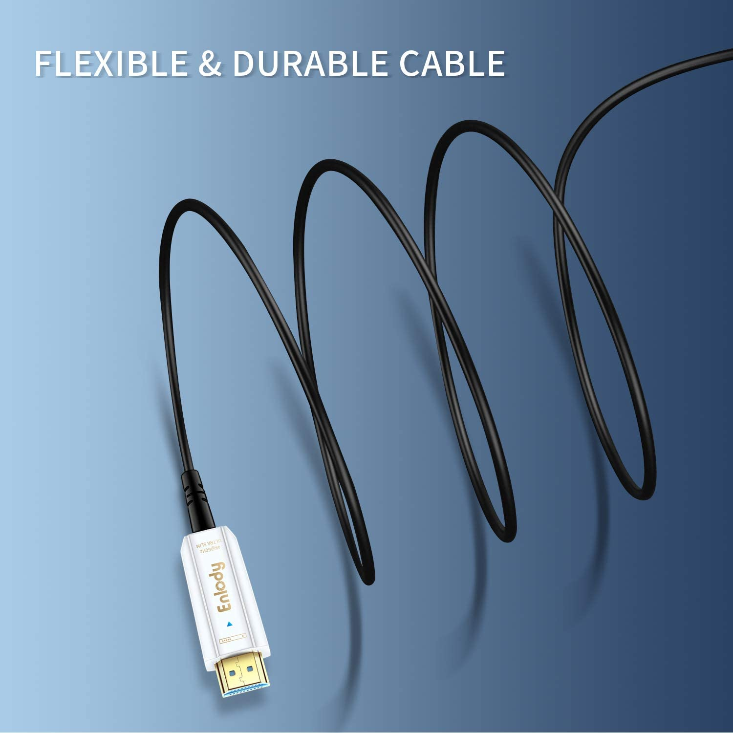 HDCP 2.2 10m HDR Fiber Optic HDMI Cable 30ft 3D 4K@60Hz Active Optical HDMI Cable 2.0 Support 18Gbps AOC YUV 4:4:4 Enlody High Speed