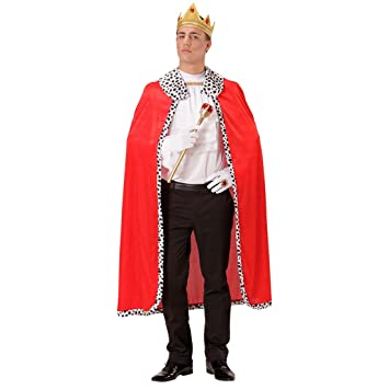 NET TOYS Manto Real con Capa y Corona Traje de Rey príncipe ...