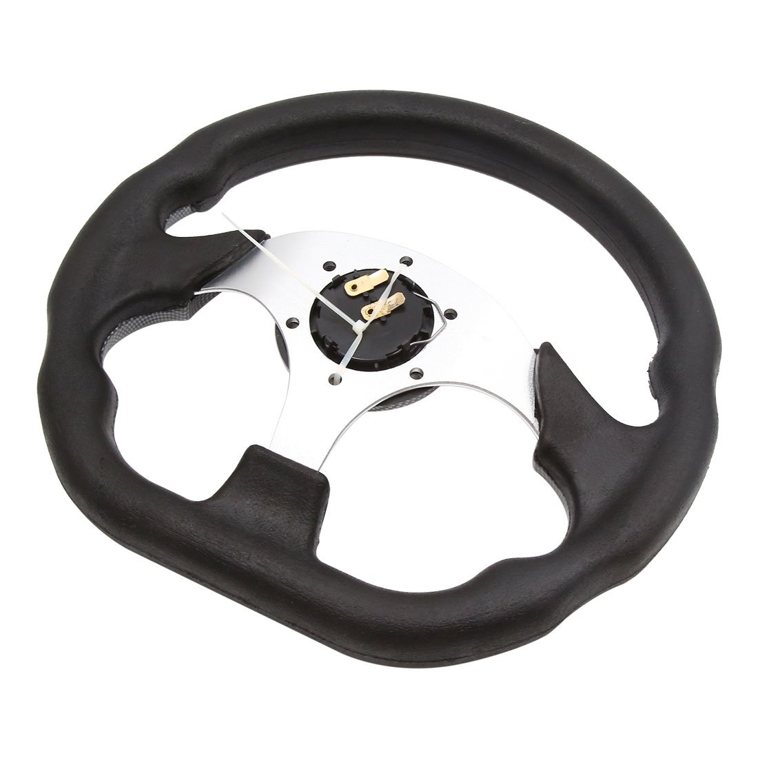 uxcell/® 320mm Outer Dia 6 Holes Anti Slip Steering Wheel Carbon Fiber Pattern for Car