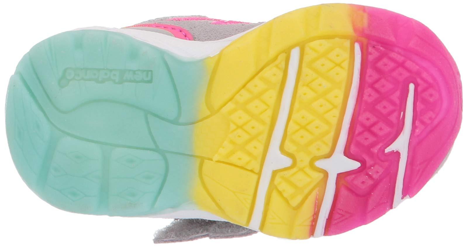 New Balance Girls' 888v2 Hook and Loop Running Shoe, Grey/Rainbow, 2 W US Infant by New Balance (Image #3)