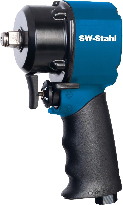 SW-Stahl Atornillador de impacto de aire comprimido S3249 Mini I 1/2 pulgadas I 1172 Nm I Atornillador de aire comprimido para cambio de neumáticos