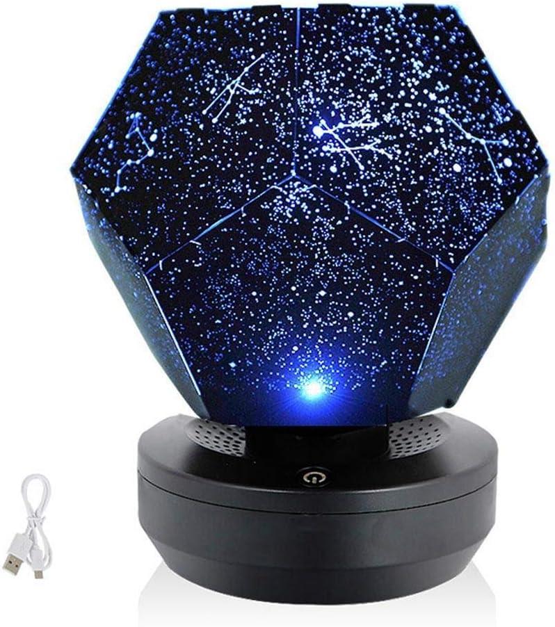 XYSQWZ Night Light Christmas 60000 Stars Starry Sky Projector Light DIY Assembly Home Planetarium Lamp Bedroom Decoration Lighting
