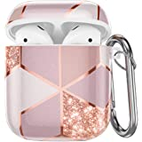 Hamile Compatible with Airpods Case Cover Cute Protective Case for Apple Airpods 2 & 1, Fadeless Shockproof Hard Case Cover w