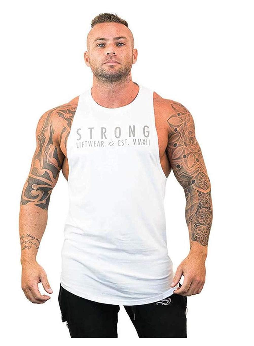 Herren Sport Tank top Muskel Gym Workout Shirt Bodybuilding /Ärmelloser t-Shirt Stringer Fitness M-XXL Training Weste