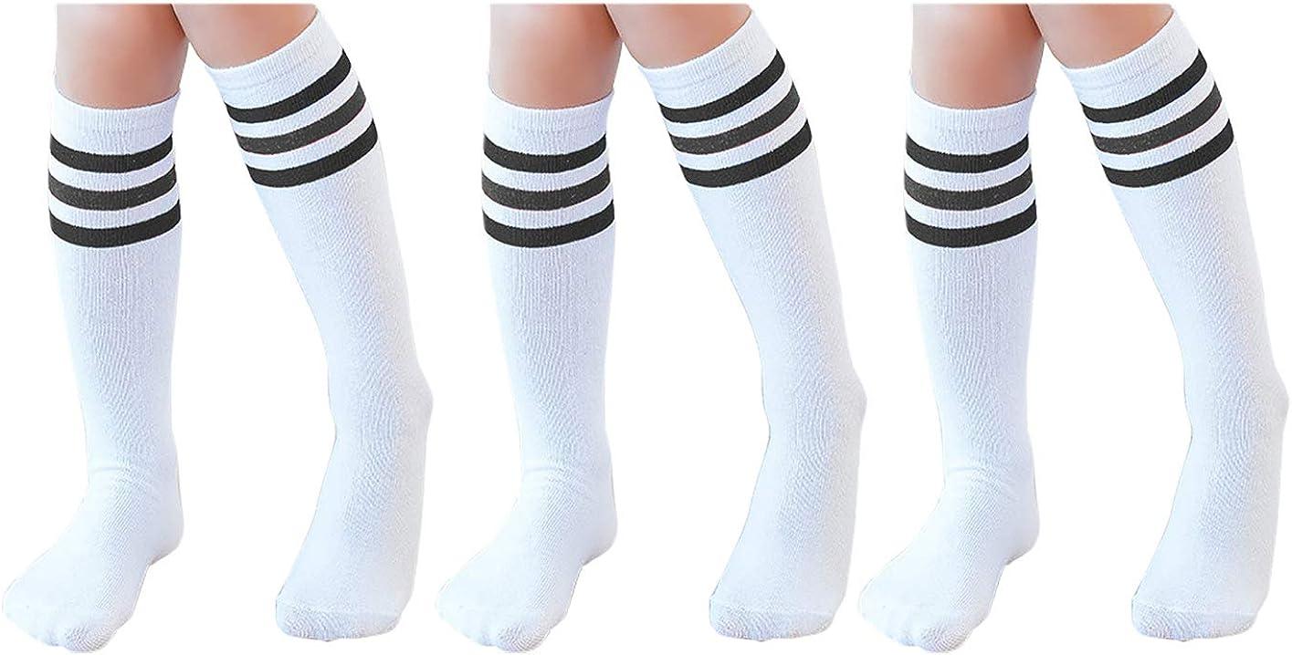 Toddler /& Child 3,4 Pairs Knee High Tube Socks for Boys Girls Baby