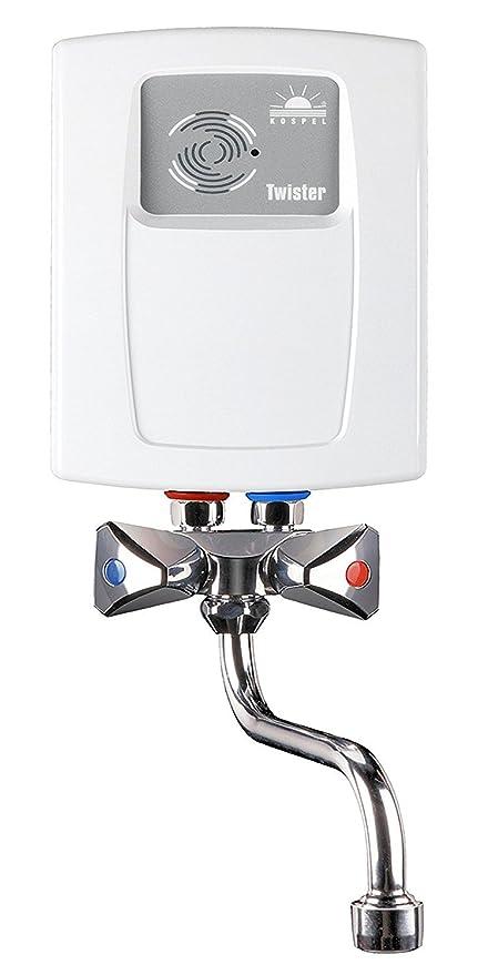 Calentador instantáneo eléctrico de agua 3,5 kw con dos grifos, 240 V,