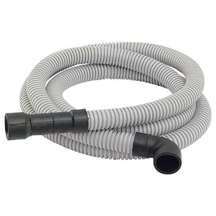 Eastman 92009 91218 Universal-Fit Dishwasher Discharge Hose, 8 Ft Length, Grey, 8 Feet