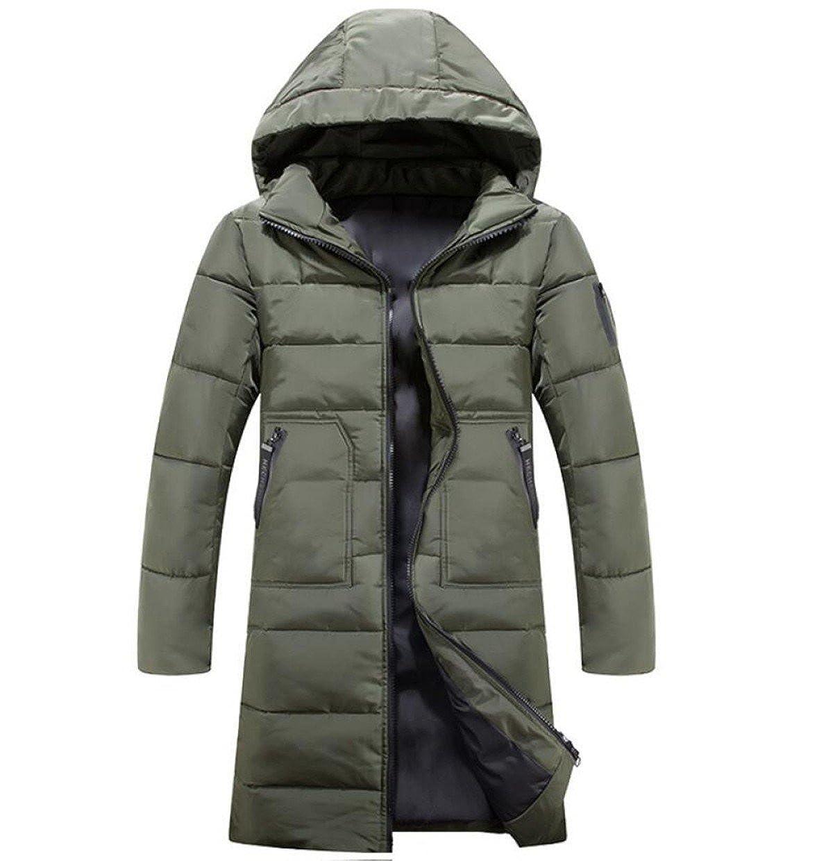 LINYI Piumino In Cotone Con Cappuccio Da Uomo Long Winter New Jacket Padded Warmth