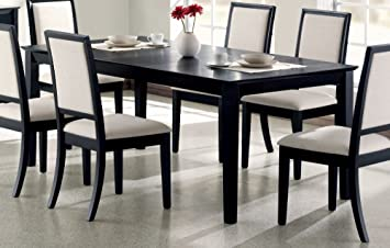 Contemporary Distressed Black Dining Room Table Coaster For Decor