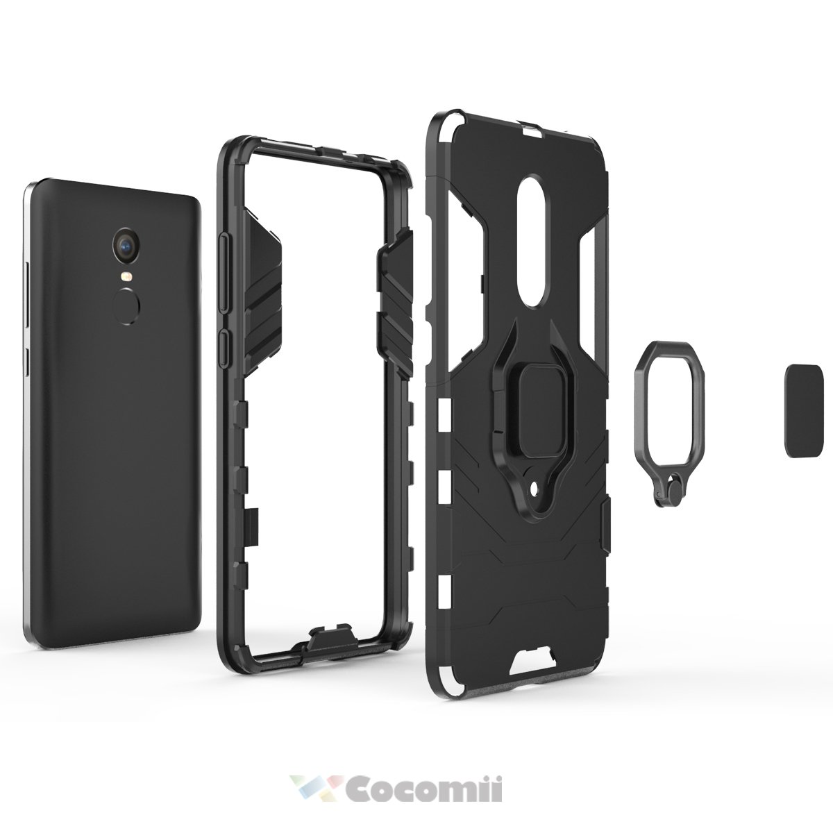 Cocomii Black Panther Armor Xiaomi Redmi Note 4/Note 4X Case New [Heavy Duty] Tactical Metal Ring Grip Kickstand Shockproof [Works with Magnetic Car ...