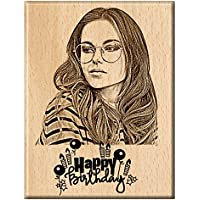 Engraveindia Happy Birthday Unique Personalized Wooden Engraved Plaque/Frame