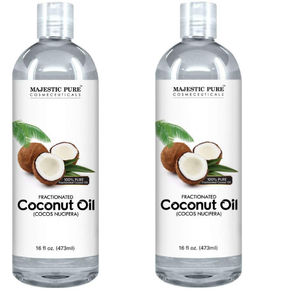 Majestic Pure Fractionated Coconut Oil, For Aromatherapy Relaxing Massage, Carrier Oil for Diluting Essential Oils, Hair & Skin Care Benefits, Moisturizer & Softener - Set of 2. by Majestic Pure (Image #3)
