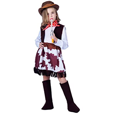 Girl's Role Play Cowgirl Costume Set: Clothing