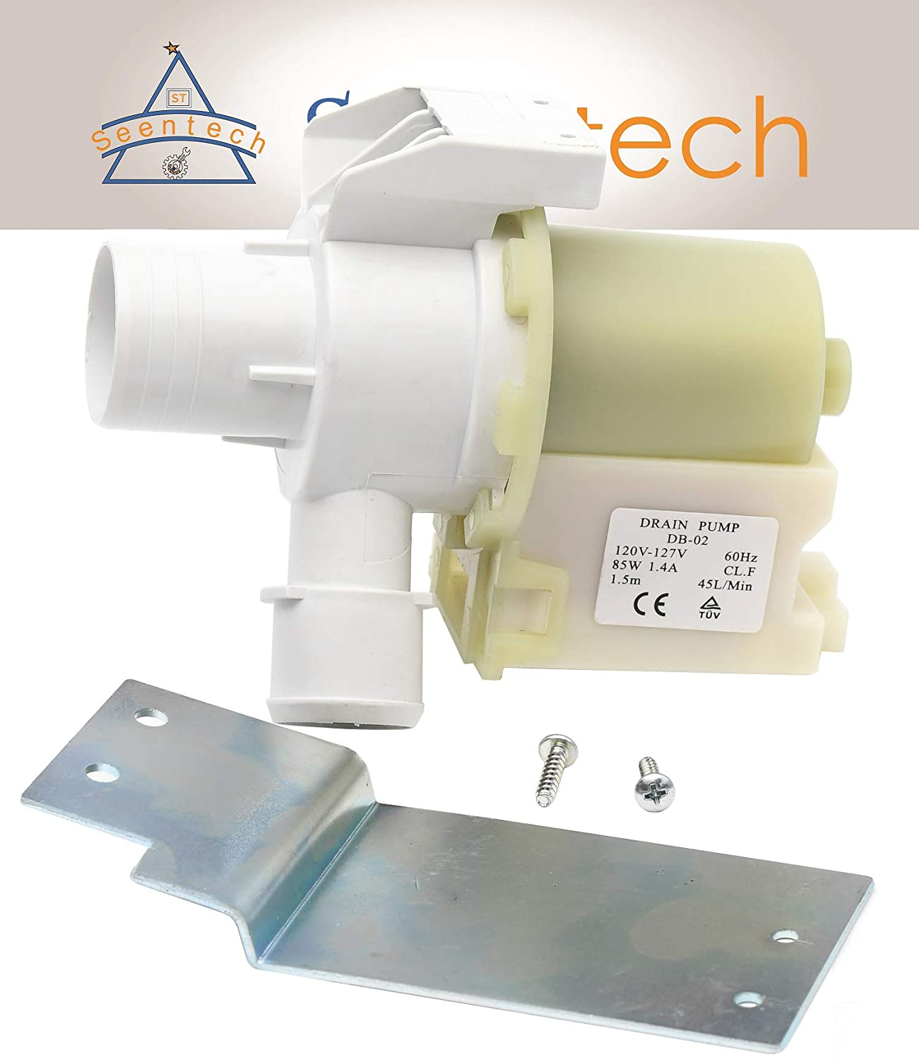GE WH23x10030 washer drain pump - Exact fit for GE, Hotpoint washers: Replace Drain Pump AP5803461, PS8768445, WH23X10003, WH23X10013, WH23X0081, WH23X10030 by Seentech