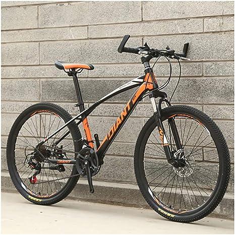Link Co Frenos de Disco de Cambio de Bicicleta de montaña de 26 Pulgadas Bicicleta de montaña 21 Absorción de Choque de Velocidad Bicicleta de una Rueda,Orange: Amazon.es: Deportes y aire libre