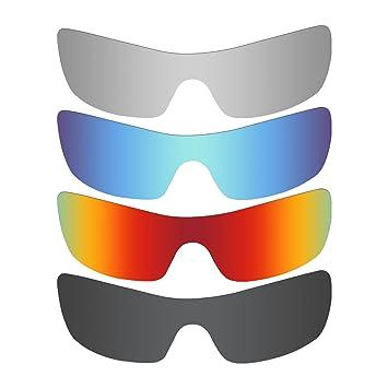 MRY 4 pares polarizadas lentes de repuesto para Oakley Batwolf sunglasses-stealth negro/fuego