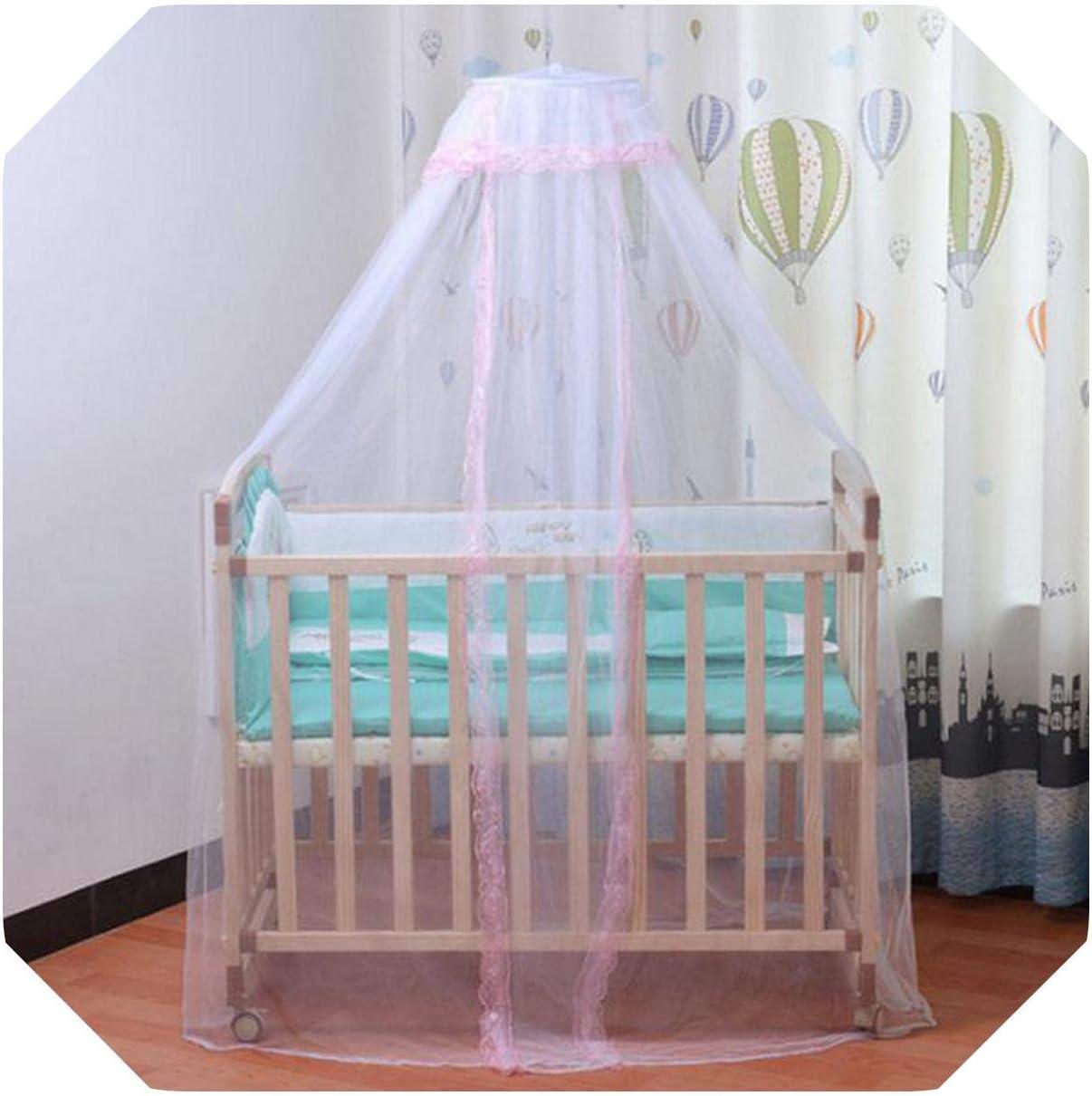 Eileen Ford Canopy para niñas   Mosquitera Plegable Royal Court Princess Cute Mosquito Bed Canopy Cover con Encaje para bebé Ty-PL-