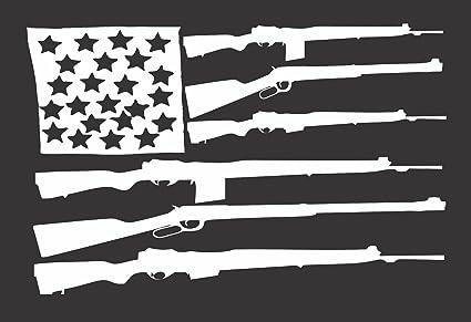 Flag guns usa die cut vinyl window decal sticker for car truck 8 5quot