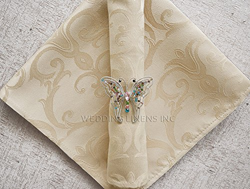 Wedding Linens Inc. 10 pcs Versailles Chopin Jacquard Damask Polyester 20