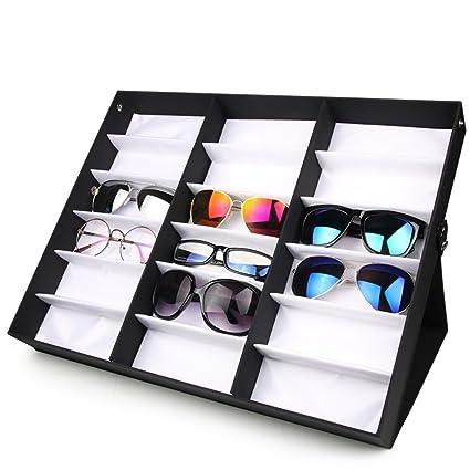 18 negro gafas pantalla caja/De gafas de sol stand ...