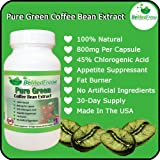 Pure Green Coffee Bean Extract 800mg Premium Ultimate Fat Burner Capsules For Men and Women (60 Capsules, or 30-Day Supply) – 45% Chlorogenic Acid Helps You Lose Weight Naturally Fast – 100% Pure, Zero Additives, Zero GMOs And Zero Artificial Ingredients, Made in North America, Health Care Stuffs