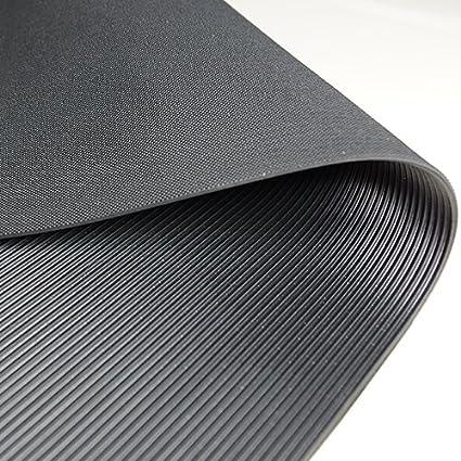 Gr/ö/ße w/ählbar weniger Gummigeruch St/ärke: 3mm Feinriefenmatte Premium Farbe: Schwarz 3m/² 1,0 x 3,0m