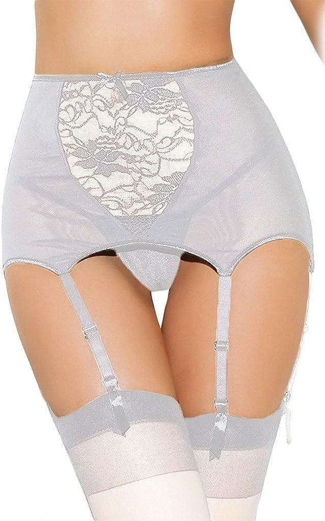 Lukis Damen Hoch Taille Strapsstr/ümpfe mit String