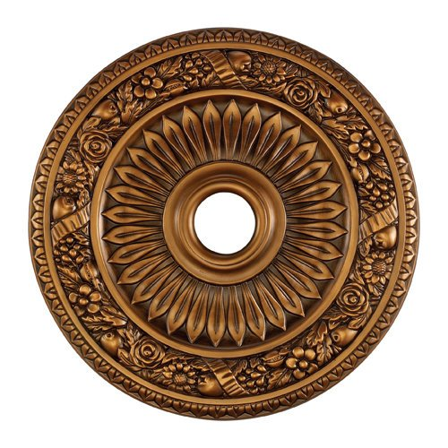 Elk M1006AB Floral Wreath Ceiling Medallion, 24-Inch, Antique Bronze Finish ()