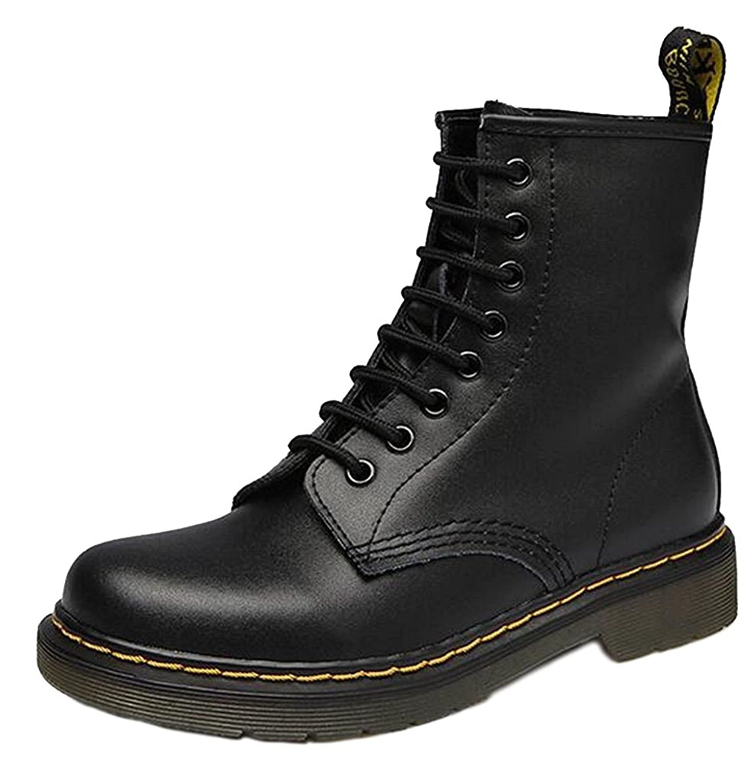 DADAWEN Women's Retro Lace-Up Ankle Boots
