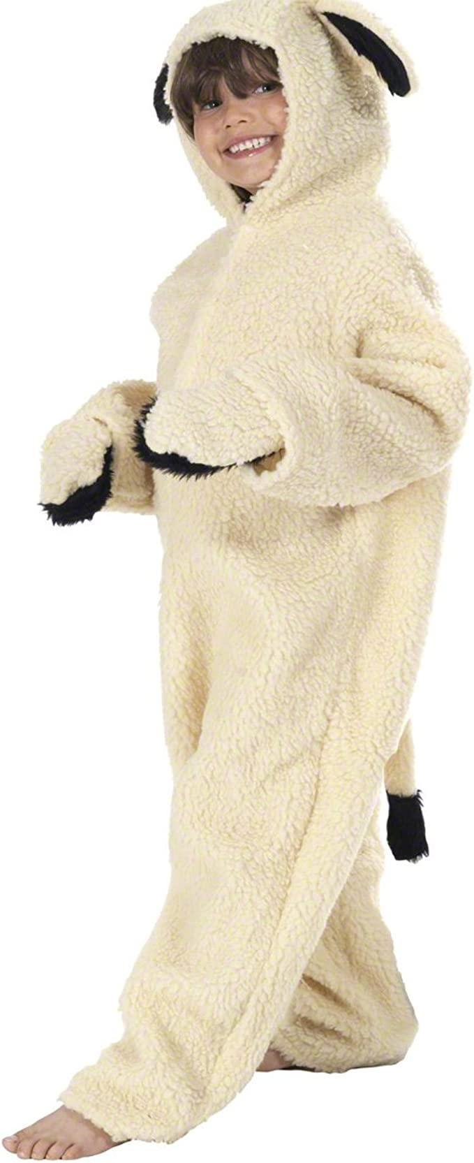 Boys Girls Sheep Costume Lamb Shepherd Christmas Nativity Fancy Dress Costume