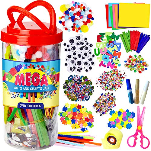 Mega Kids Art Supplies Jar - Ove...