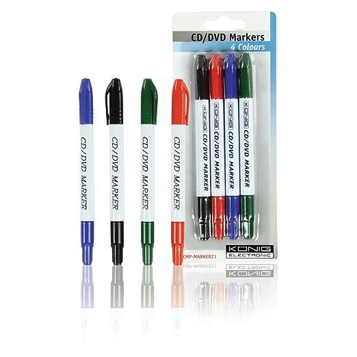 219 opinioni per Konig CMP-MARKER21 Pennarelli Cd/Dvd, Multicolore