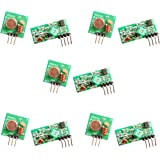 HiLetgo 5pcs 433MHz RF Wireless Transmitter and Receiver Module Link Kit for Arduino/Arm/McU/Raspberry pi/Wireless DIY