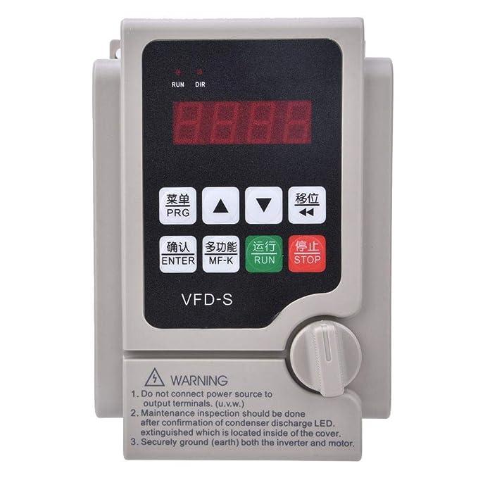 Jadpes Convertidor de frecuencia VFD, Entrada trifásica de Alto ...