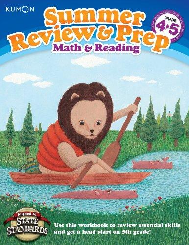 Kumon Summer Review & Prep Workbooks 4-5