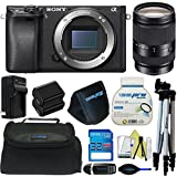 Sony Alpha a6300 Mirrorless Digital Camera (Body Only) + Pixi-Basic Accessory Bundle - International Version