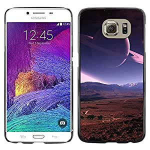 Stuss Case / Funda Carcasa protectora - Saturn Rings Planet Mars View Red Desert Space - Samsung Galaxy S6 SM-G920