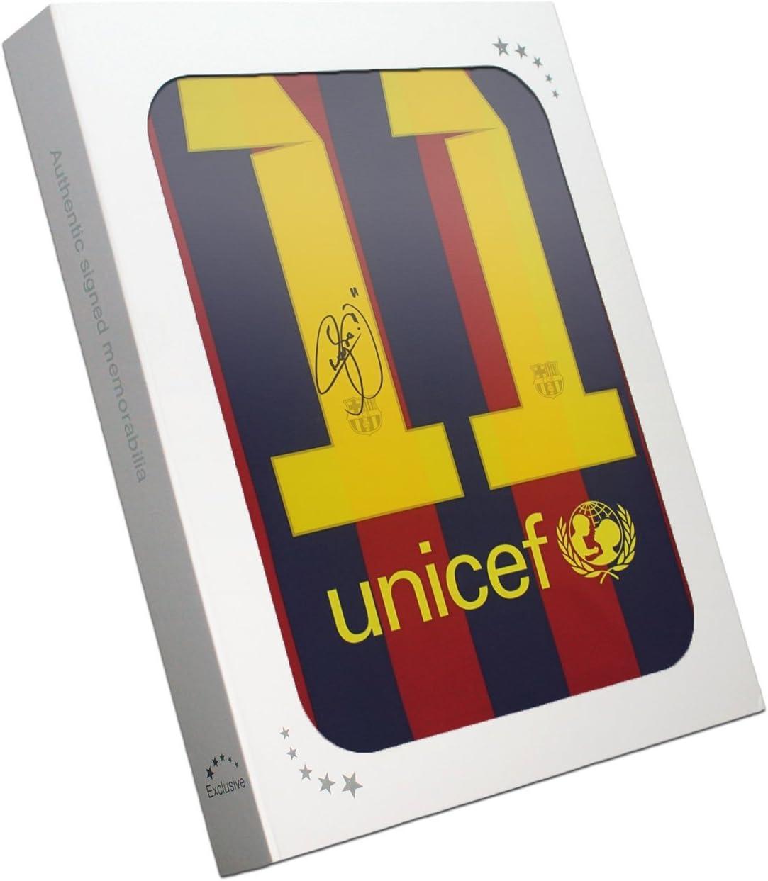 Neymar Jr Barcelona firmada 2013-14 camiseta de fútbol En la caja de regalo: Amazon.es: Deportes y aire libre