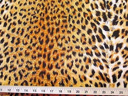 Discount Fabric Challis Rayon Cheetah Print 2 yds @ $6.99 J303
