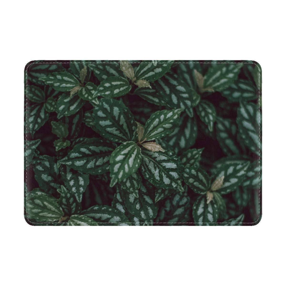 Plants Leaves Green Leather Passport Holder Cover Case Travel One Pocket