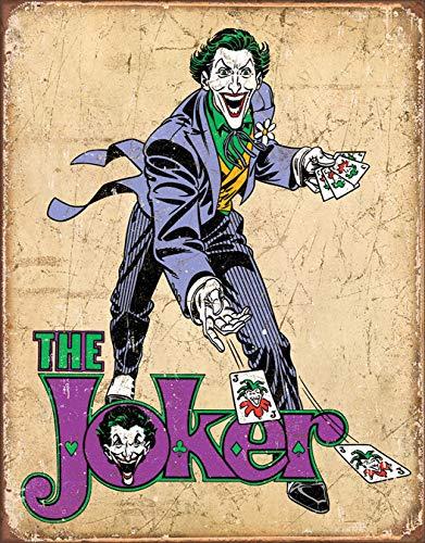 "Desperate Enterprises DC Comics - The Joker Tin Sign, 12.5"" W x 16"" H"