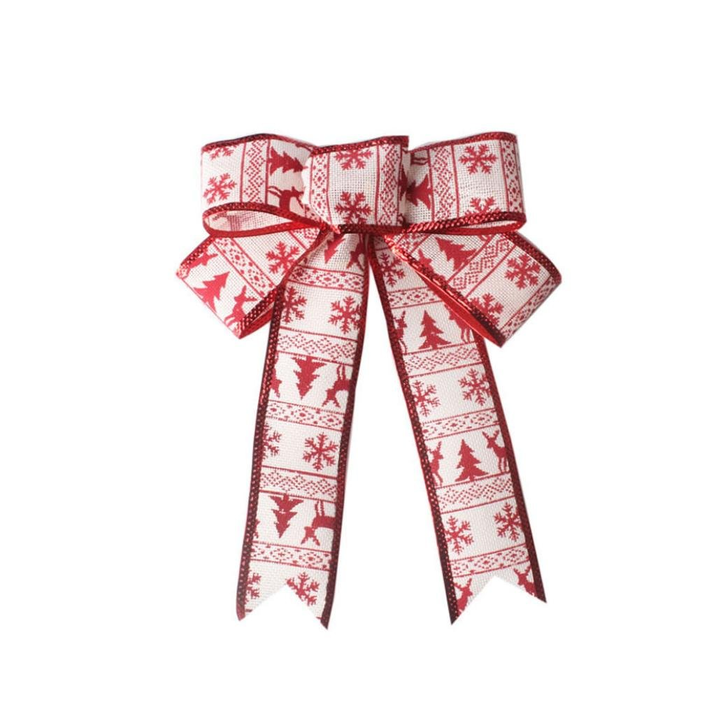 Gotd Christmas Tree Ornament Hanging Charm Ribbon Party Decoration Party Supplies (Multicolor C)
