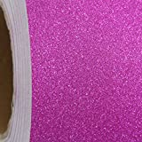 "Glitter Self Adhesive Sign and Hobby Vinyl Film By The Roll - Huge 55yd Rolls - 12"" Wide - Hot Pink - Threadart"