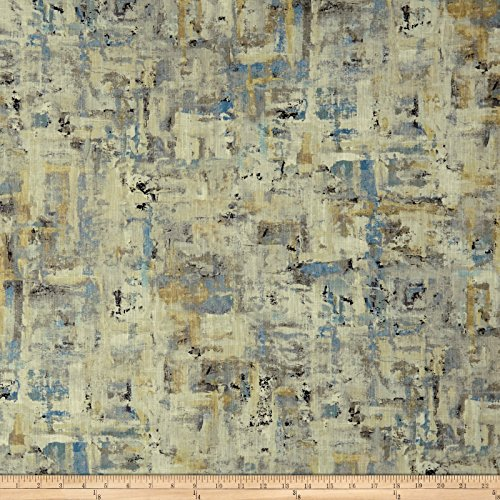 Swavelle/Mill Creek Scavusso Abstract Barkcloth Iceberg Fabric By The Yard - Barkcloth Fabric