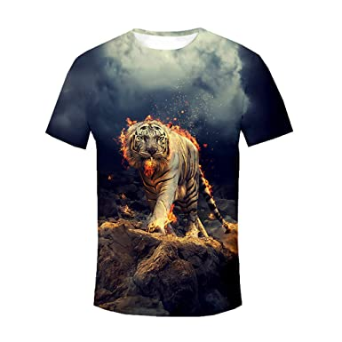 6381df51dc1553 MmNote Save 15% Mens Flame Lion Print Technology Lightweight Muscle Fitness  Workout Hot Sweat Cool Quick Short Sleeve at Amazon Men s Clothing store