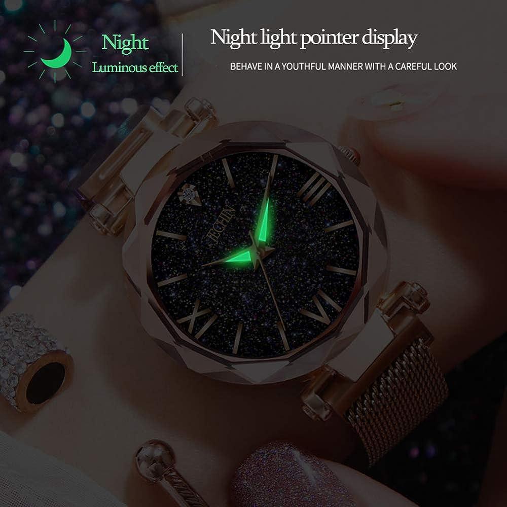 Amazon.com: Jechin - Reloj de pulsera con hebilla magnética ...