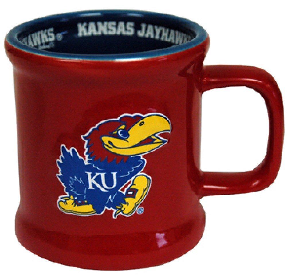 NCAA Kansas Jayhawks Ceramic Relief Logo Mug